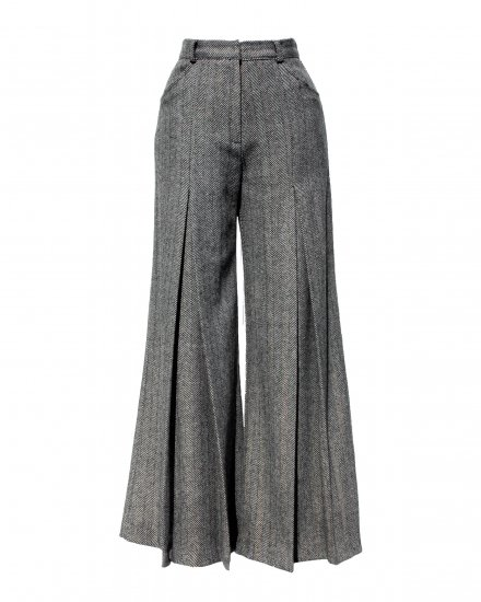HERRINGBORNE WIDE PANTS
