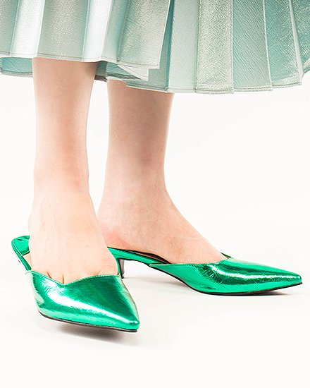 EMERALD METALLIC MULE