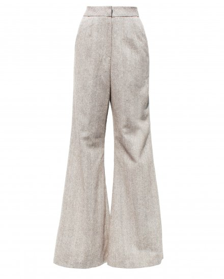 HERRINGBONE FLARE PANTS