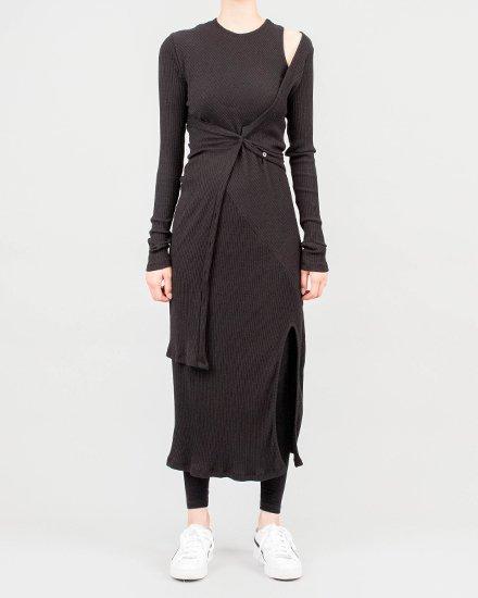 CARDIGAN LAYERED RIB DRESS