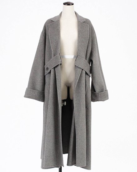 SIDE BELT LONG COAT