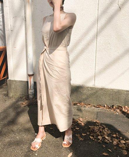 【 NEW 】COTTON WRAP DRESS