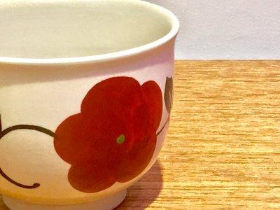 これからの時期デザートカップ(赤花)矢島操さんの器