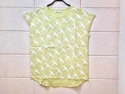 オニオンツリークラフト ツバメ バード プリントTシャツ(イエローホワイト)