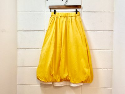 Jikonka バルーンスカート(黄色)ペチコート付