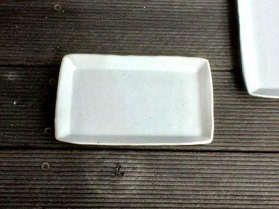 石川哲生さん(三重県)の長角皿 大 白マット 汚れ防止の撥水加工