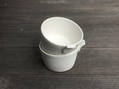 石川哲生さん(三重県)の片手カップ 白マット 小 汚れ防止の撥水加工