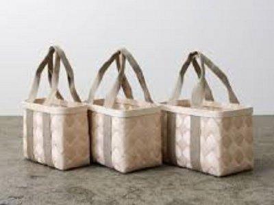 CINQ サンク 白樺のかごバッグ Mサイズ 北欧 インテリア