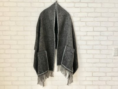 LAPUANKANKURIT(ラプアンカンクリ) MARIA PocketShawl black×grey