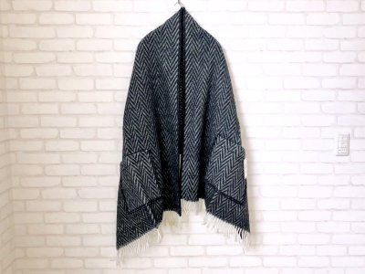 LAPUANKANKURIT(ラプアンカンクリ) IIDA PocketShawl black×white