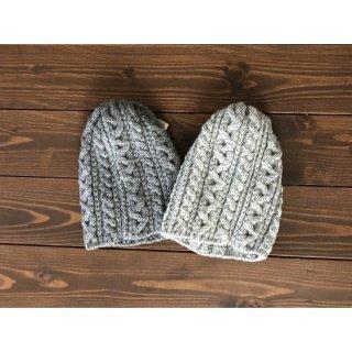 サンク ケーブル編みニット帽 これからの時期に最適です。
