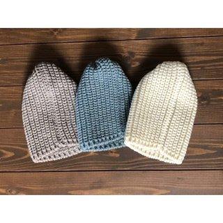 サンク  リブ編みニット帽 これからの時期に最適です。プレゼント用としても