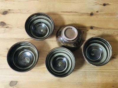 沖縄 工房コキュさんの器 3.5寸丸碗(茶色)