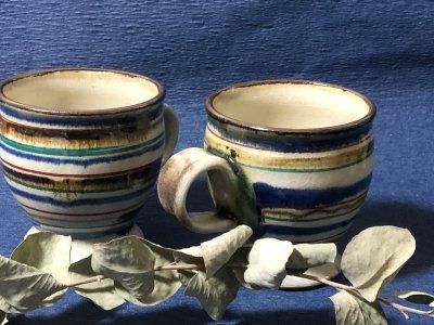 沖縄の器やちむんです。個性的な器 福田健治 マグカップ