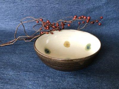 小石原焼き 鬼丸豊喜窯 5寸鉢(三彩バラ)