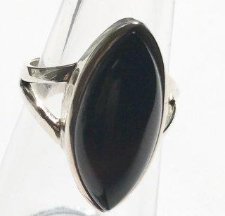 天然石アクセサリー 指輪 ブラックオニキス #12