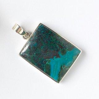 天然石アクセサリーペンダント アリゾナ産クリソコラ