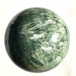 天然石 丸玉 セラフィナイト  53mm 271g