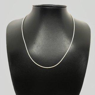 合皮ネックレス シルバー925製金具 41cm ベージュ色