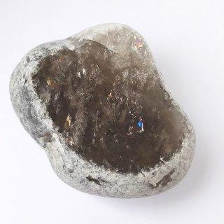 天然石 原石・磨 川流れ水晶(リバークリスタル)スモーキークォーツ