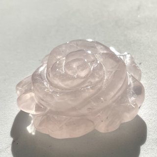 天然石 飾り物・置き物 ローズクォーツ バラ
