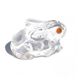 天然石 飾り物・置き物 水晶 うさぎ
