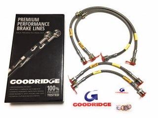 GOODRIDGE プレミアムパフォーマンスブレーキライン ステンメッシュブレーキホース   MINI R50 R53