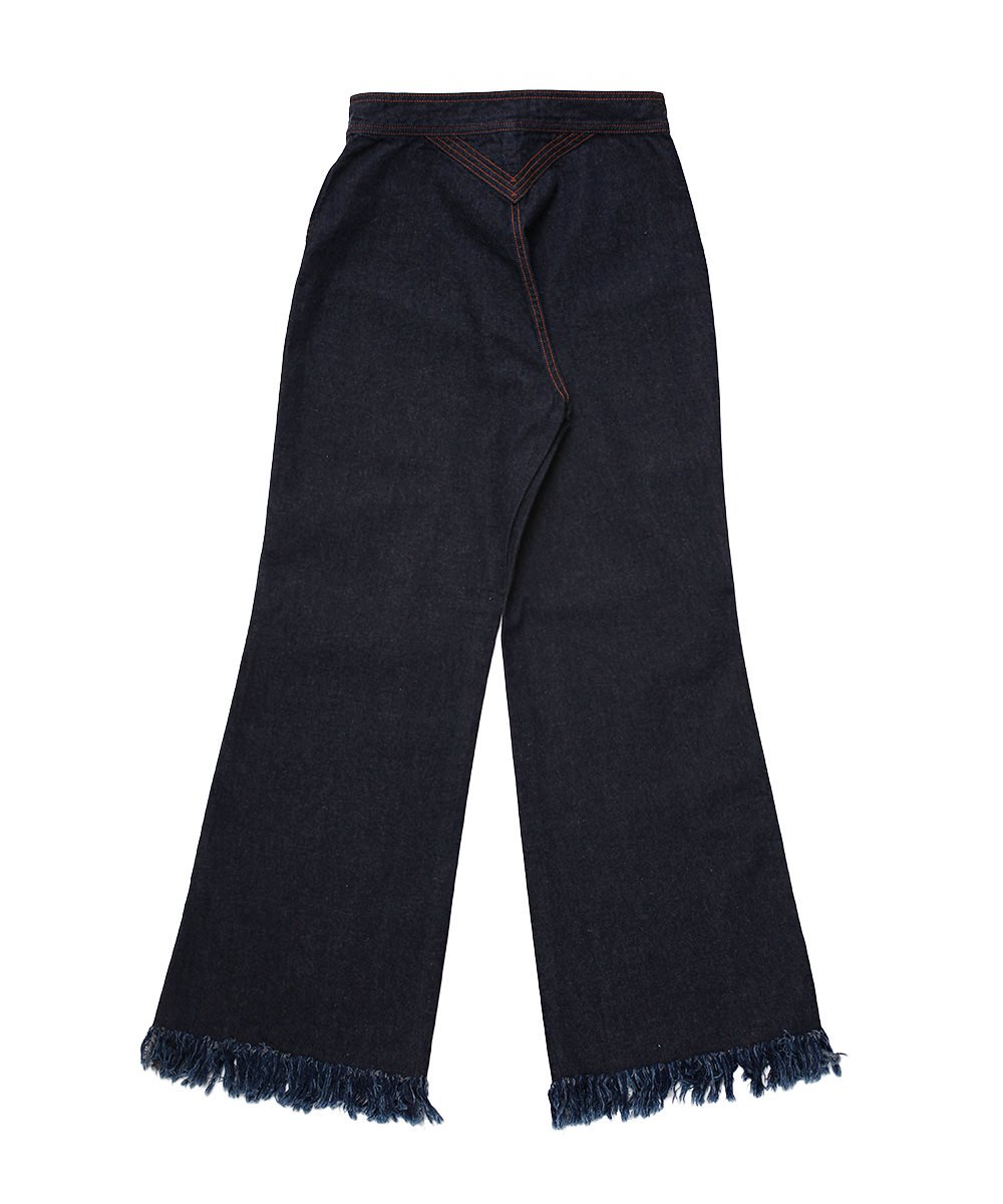 70'S FRINGE JEANS (ONE WASH)