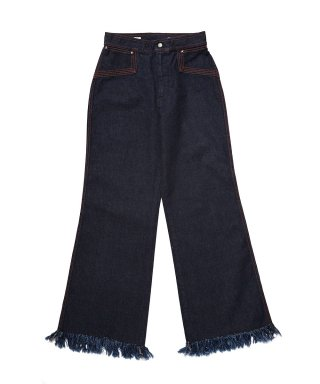 YOUNG & OLSEN 70'S FRINGE JEANS (ONE WASH)