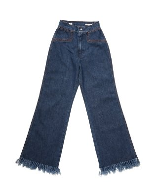 YOUNG & OLSEN 70'S FRINGE JEANS (WASHED OUT)