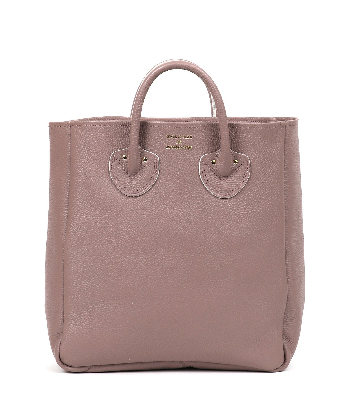 EMBOSSED LEATHER TOTE M