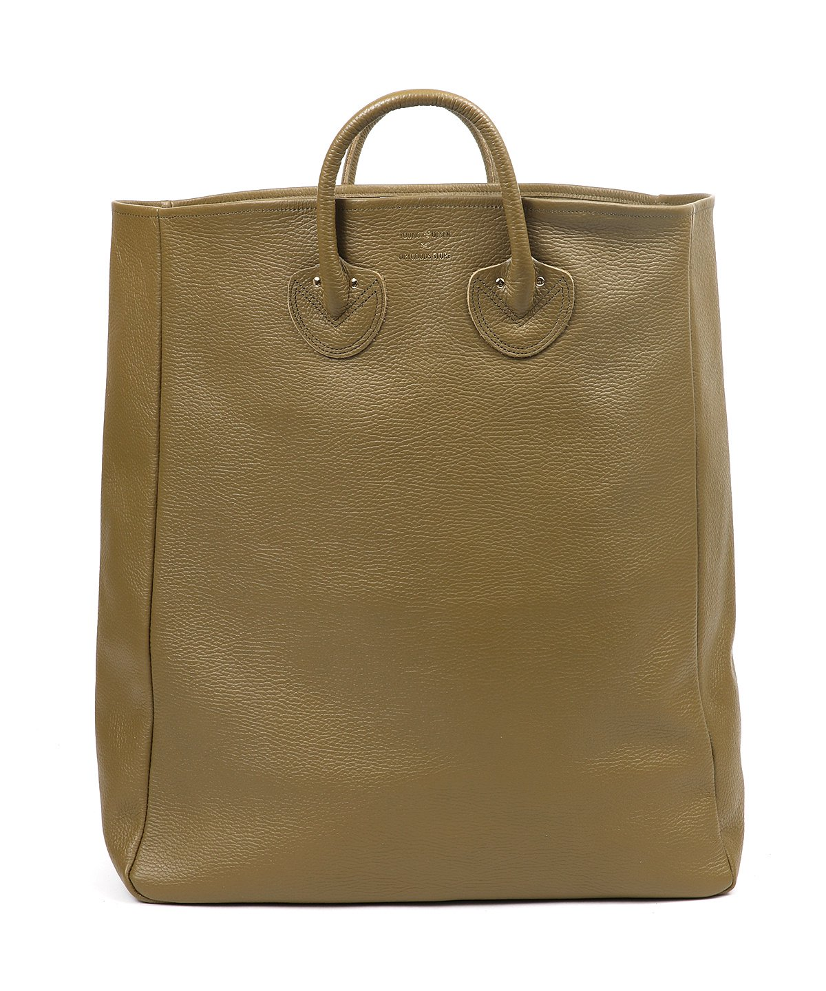 EMBOSSED LEATHER TOTE L