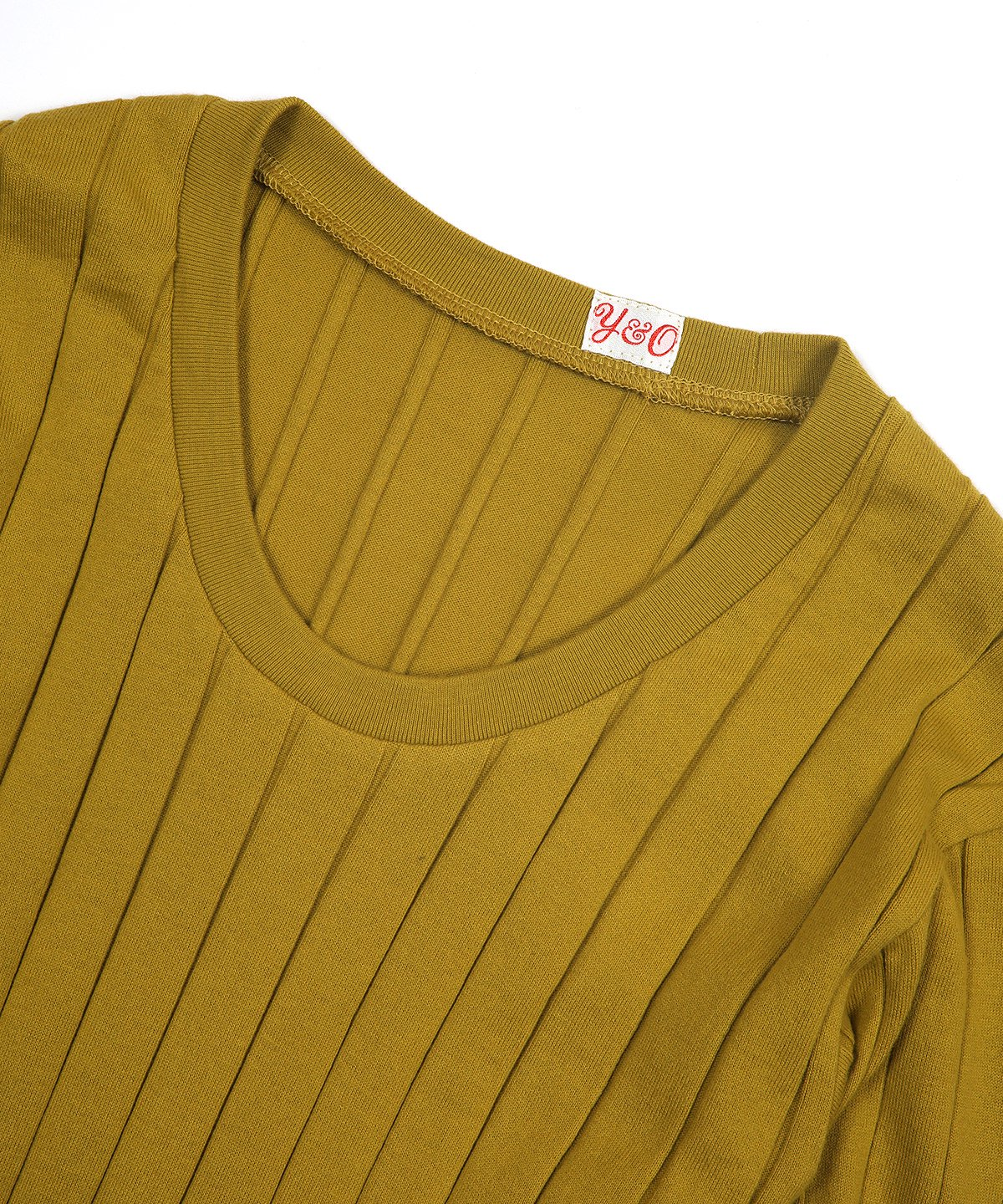 BROAD RIB U-NECK LS