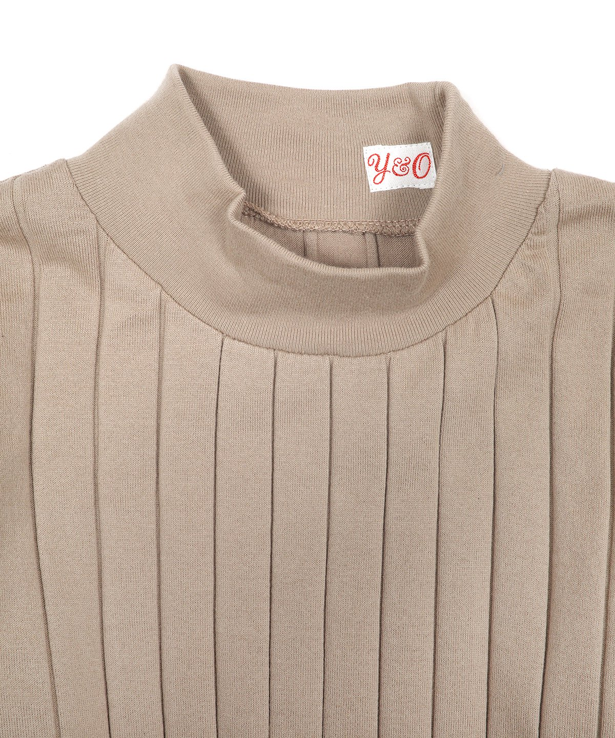 BROAD RIB HI NECK LS