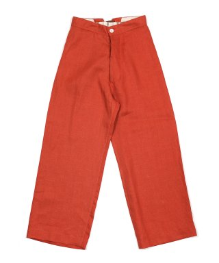 YOUNG & OLSEN LINEN TWILL MARINE TROUSER