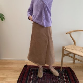 <img class='new_mark_img1' src='https://img.shop-pro.jp/img/new/icons20.gif' style='border:none;display:inline;margin:0px;padding:0px;width:auto;' />40%OFF THE BIBIO PROJECT - WRAP SKIRT / TOASTED COCONUT (for womans)