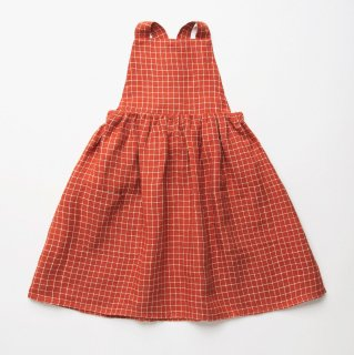 <img class='new_mark_img1' src='https://img.shop-pro.jp/img/new/icons14.gif' style='border:none;display:inline;margin:0px;padding:0px;width:auto;' />Nellie Quats - Conkers Pinafore / Rust Check Linen