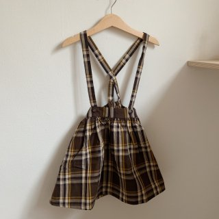 <img class='new_mark_img1' src='https://img.shop-pro.jp/img/new/icons14.gif' style='border:none;display:inline;margin:0px;padding:0px;width:auto;' />tocoto vintage - Tartan plaid skirt with braces