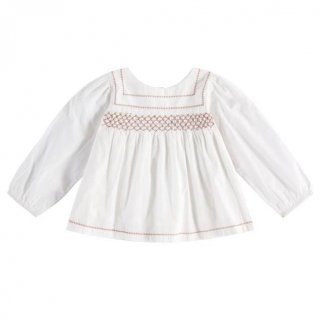 <img class='new_mark_img1' src='https://img.shop-pro.jp/img/new/icons20.gif' style='border:none;display:inline;margin:0px;padding:0px;width:auto;' />30%OFF Little Cotton Clothes - Charlotte blouse / off-white with clay smocking