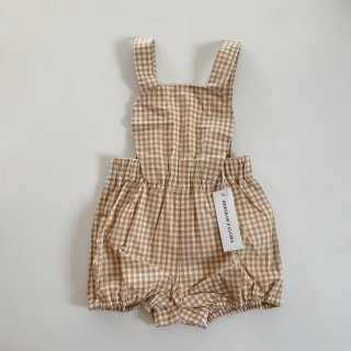 <img class='new_mark_img1' src='https://img.shop-pro.jp/img/new/icons14.gif' style='border:none;display:inline;margin:0px;padding:0px;width:auto;' />House of Paloma - Anais Playsuit / Ginger Gingham