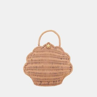<img class='new_mark_img1' src='https://img.shop-pro.jp/img/new/icons14.gif' style='border:none;display:inline;margin:0px;padding:0px;width:auto;' />Olli Ella Rattan Shell Bag Rose