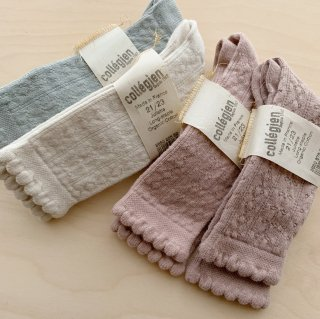 <img class='new_mark_img1' src='https://img.shop-pro.jp/img/new/icons14.gif' style='border:none;display:inline;margin:0px;padding:0px;width:auto;' />collegien - Pointelle Knee Socks