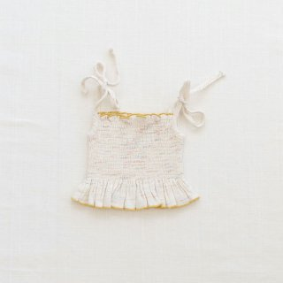 <img class='new_mark_img1' src='https://img.shop-pro.jp/img/new/icons14.gif' style='border:none;display:inline;margin:0px;padding:0px;width:auto;' />fin&vince - Smocked Crop Blouse / confetti