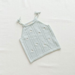 <img class='new_mark_img1' src='https://img.shop-pro.jp/img/new/icons14.gif' style='border:none;display:inline;margin:0px;padding:0px;width:auto;' />fin&vince - Knit Tie Tank / daisy fields embroidery