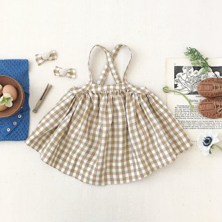 <img class='new_mark_img1' src='https://img.shop-pro.jp/img/new/icons14.gif' style='border:none;display:inline;margin:0px;padding:0px;width:auto;' />SOOR PLOOM - Eloise Pinafore / Gingham