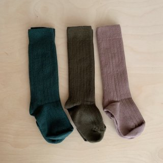 <img class='new_mark_img1' src='https://img.shop-pro.jp/img/new/icons14.gif' style='border:none;display:inline;margin:0px;padding:0px;width:auto;' />collegien - Ribbed Knee Socks