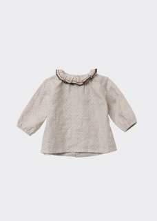 <img class='new_mark_img1' src='https://img.shop-pro.jp/img/new/icons14.gif' style='border:none;display:inline;margin:0px;padding:0px;width:auto;' />CARAMEL MIRON BABY BLOUSE / CREAM DOTTY