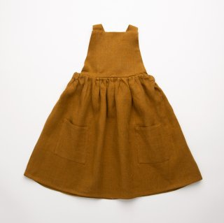 <img class='new_mark_img1' src='https://img.shop-pro.jp/img/new/icons14.gif' style='border:none;display:inline;margin:0px;padding:0px;width:auto;' />Nellie Quats - Conkers Pinafore / Burnt Caramel Linen