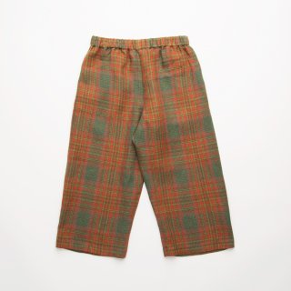 <img class='new_mark_img1' src='https://img.shop-pro.jp/img/new/icons14.gif' style='border:none;display:inline;margin:0px;padding:0px;width:auto;' />Nellie Quats - Chess Trousers / Redwood Tartan Linen
