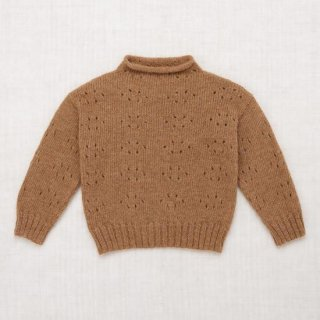 <img class='new_mark_img1' src='https://img.shop-pro.jp/img/new/icons14.gif' style='border:none;display:inline;margin:0px;padding:0px;width:auto;' />Misha and Puff - Natural Alpaca Eyelet Pullover / Camel